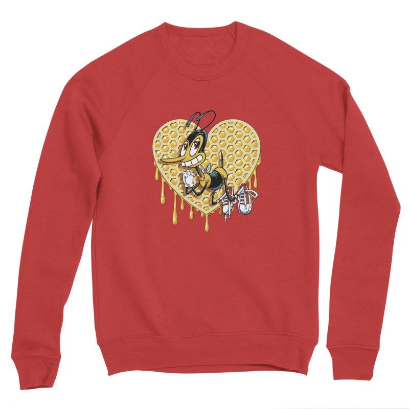 Honeycomb Heart Men's Sponge Fleece Sweatshirt by bennygraphix's Artist Shop