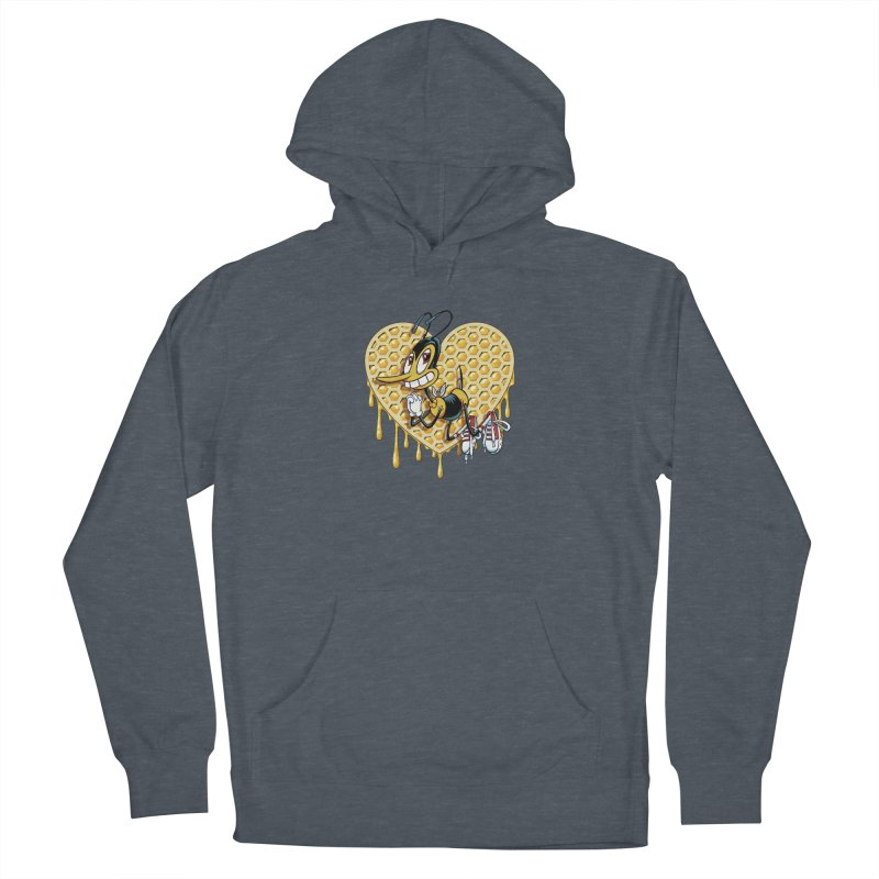 Honeycomb Heart Men's French Terry Pullover Hoody by bennygraphix's Artist Shop