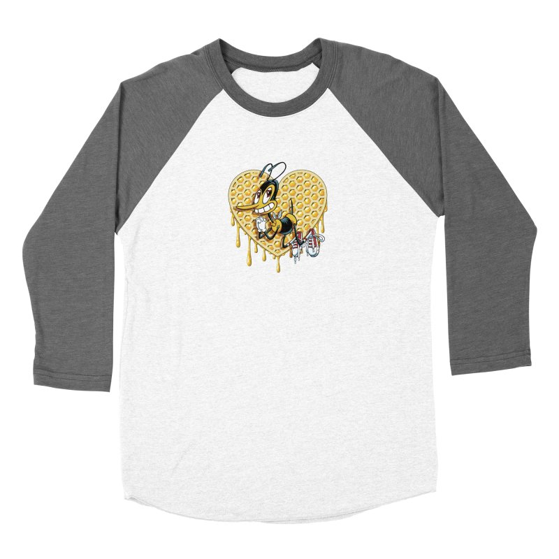 Honeycomb Heart Women's Longsleeve T-Shirt by bennygraphix's Artist Shop