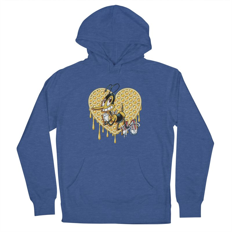 Honeycomb Heart Women's French Terry Pullover Hoody by bennygraphix's Artist Shop