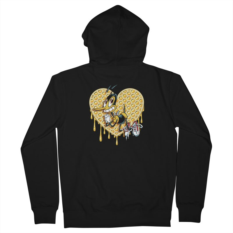 Honeycomb Heart Women's French Terry Zip-Up Hoody by bennygraphix's Artist Shop