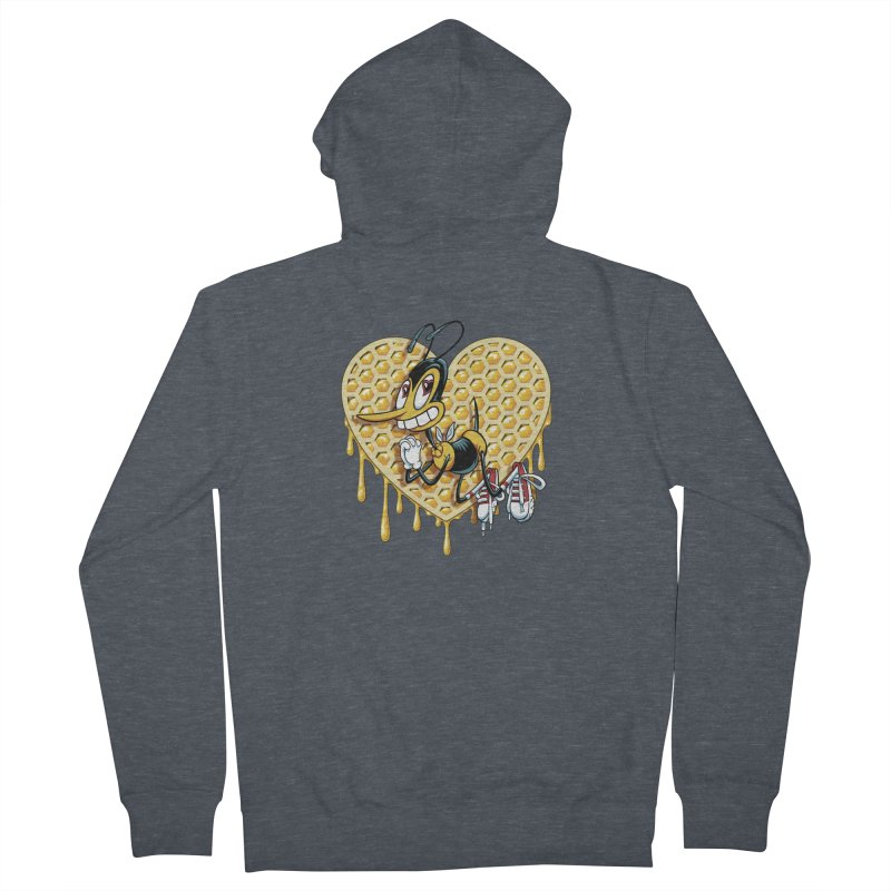Honeycomb Heart Men's French Terry Zip-Up Hoody by bennygraphix's Artist Shop