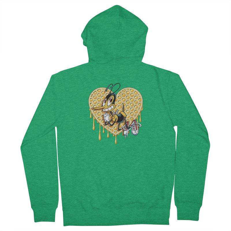 Honeycomb Heart Men's Zip-Up Hoody by bennygraphix's Artist Shop