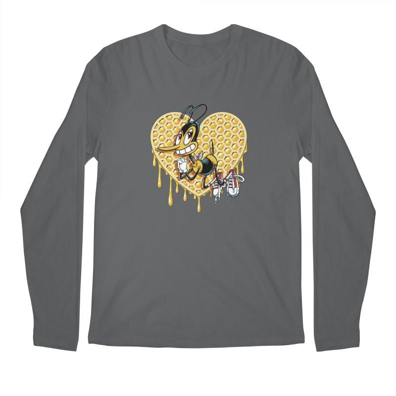 Honeycomb Heart Men's Longsleeve T-Shirt by bennygraphix's Artist Shop
