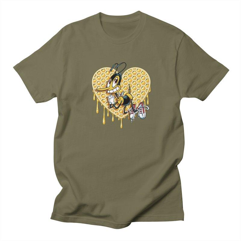 Honeycomb Heart Men's Regular T-Shirt by bennygraphix's Artist Shop