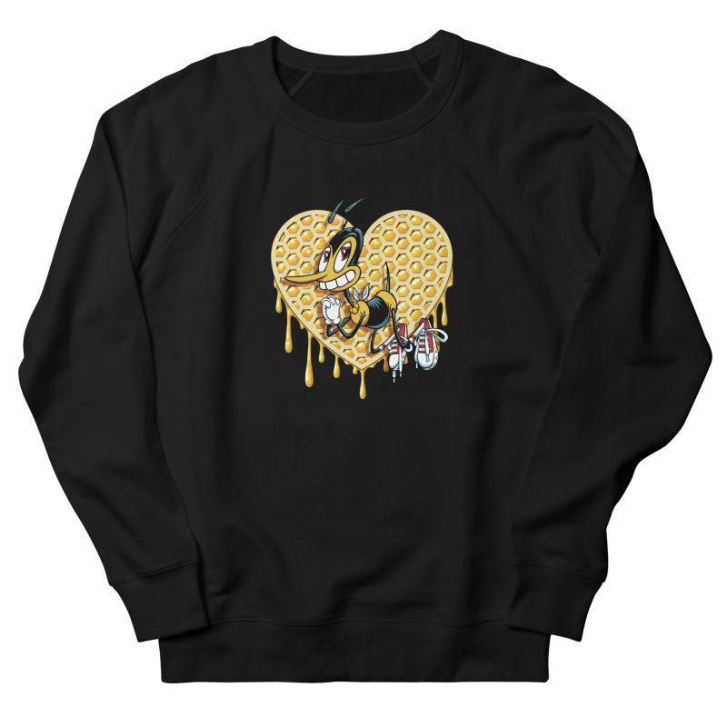 Honeycomb Heart Women's French Terry Sweatshirt by bennygraphix's Artist Shop