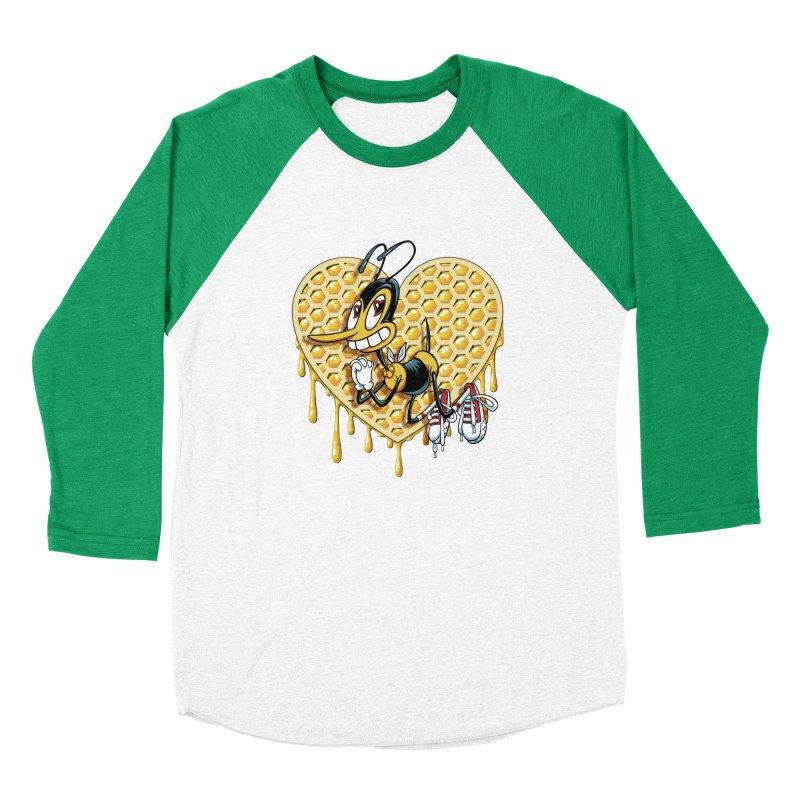Honeycomb Heart Women's Baseball Triblend Longsleeve T-Shirt by bennygraphix's Artist Shop