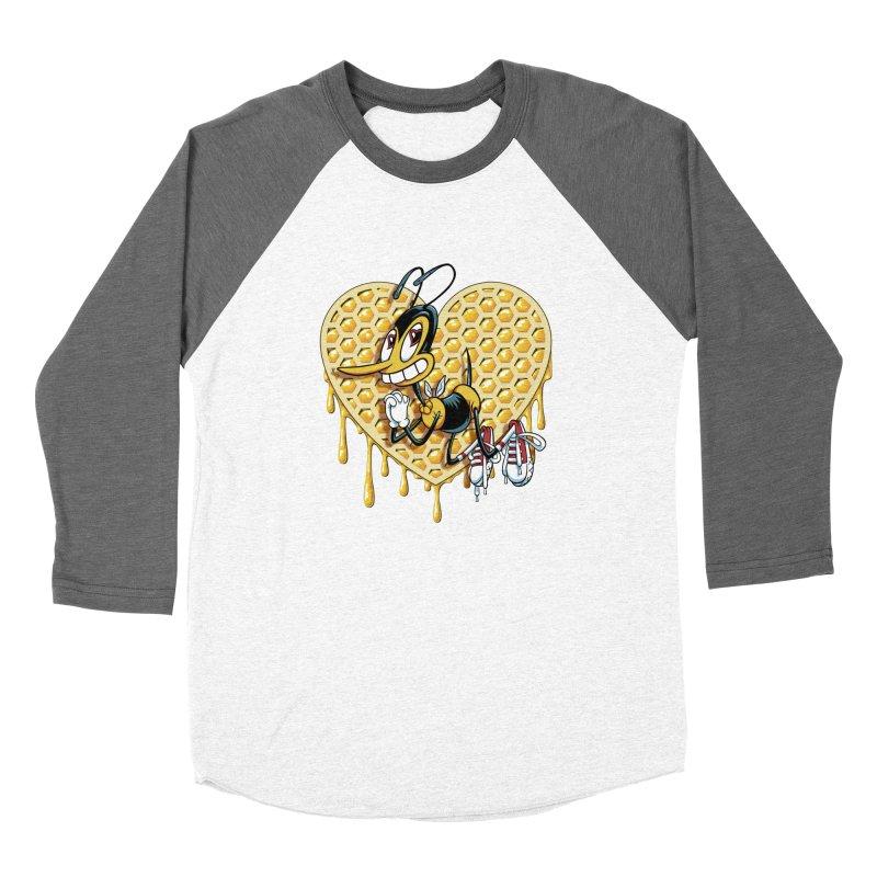 Honeycomb Heart Men's Baseball Triblend Longsleeve T-Shirt by bennygraphix's Artist Shop