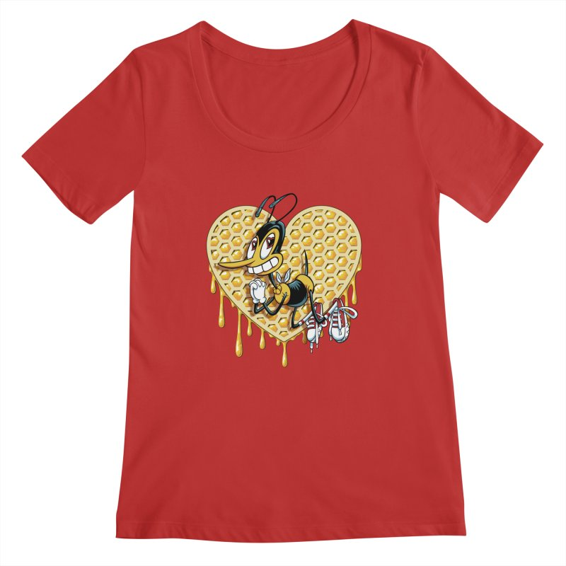 Honeycomb Heart Women's Regular Scoop Neck by bennygraphix's Artist Shop