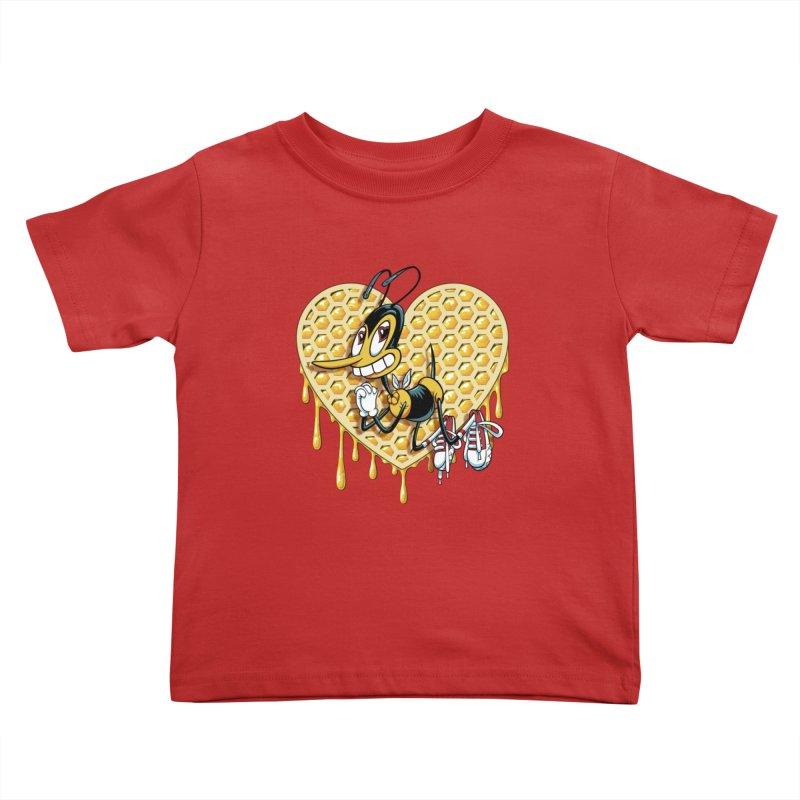 Honeycomb Heart Kids Toddler T-Shirt by bennygraphix's Artist Shop