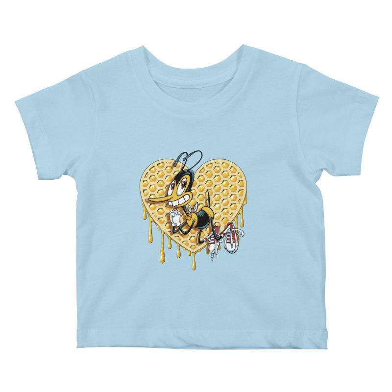 Honeycomb Heart Kids Baby T-Shirt by bennygraphix's Artist Shop