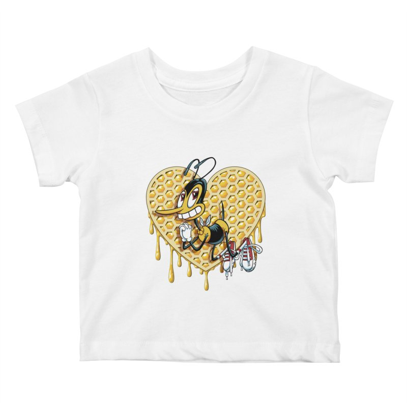 Honeycomb Heart Kids Baby T-Shirt by bennygraphix's Artist Shop