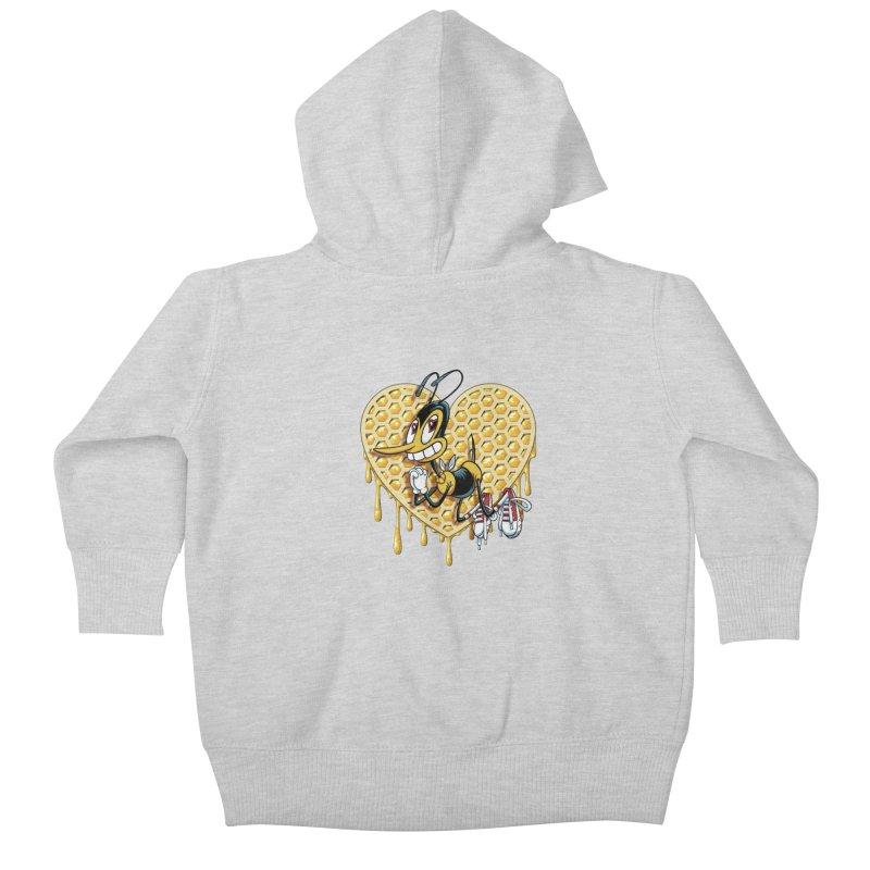 Honeycomb Heart Kids Baby Zip-Up Hoody by bennygraphix's Artist Shop