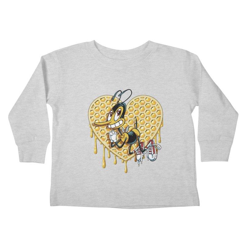 Honeycomb Heart Kids Toddler Longsleeve T-Shirt by bennygraphix's Artist Shop