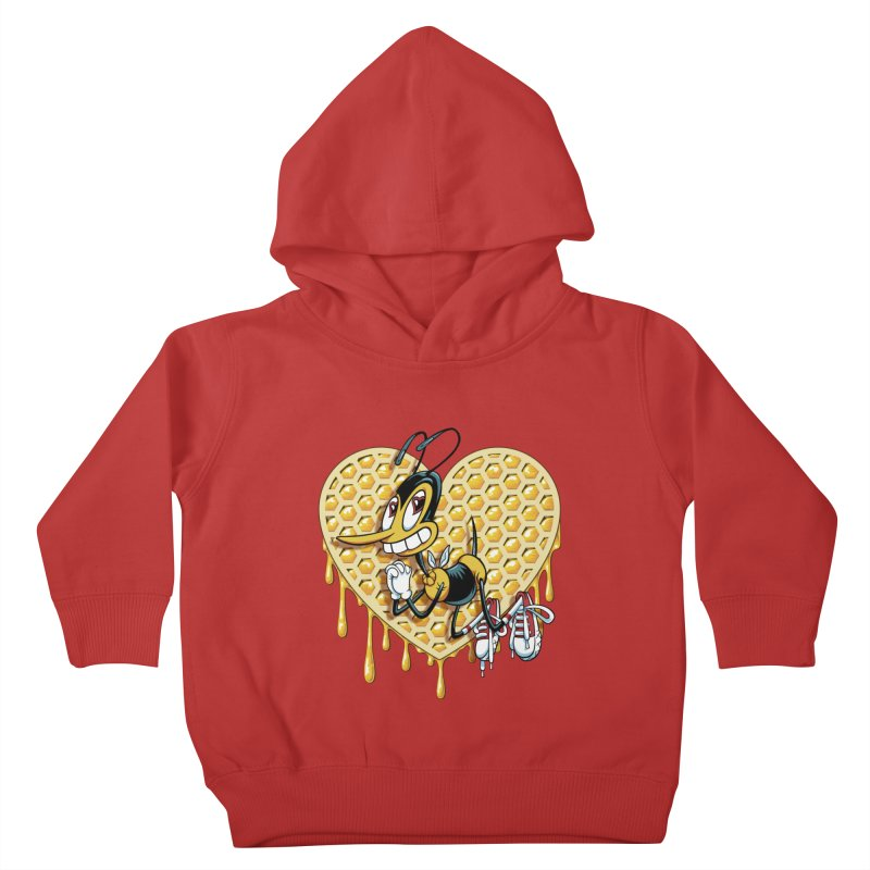 Honeycomb Heart Kids Toddler Pullover Hoody by bennygraphix's Artist Shop