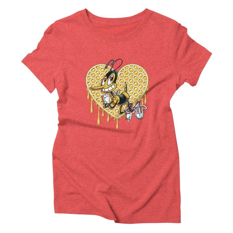 Honeycomb Heart Women's Triblend T-Shirt by bennygraphix's Artist Shop