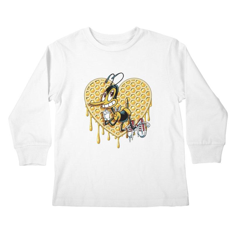 Honeycomb Heart Kids Longsleeve T-Shirt by bennygraphix's Artist Shop
