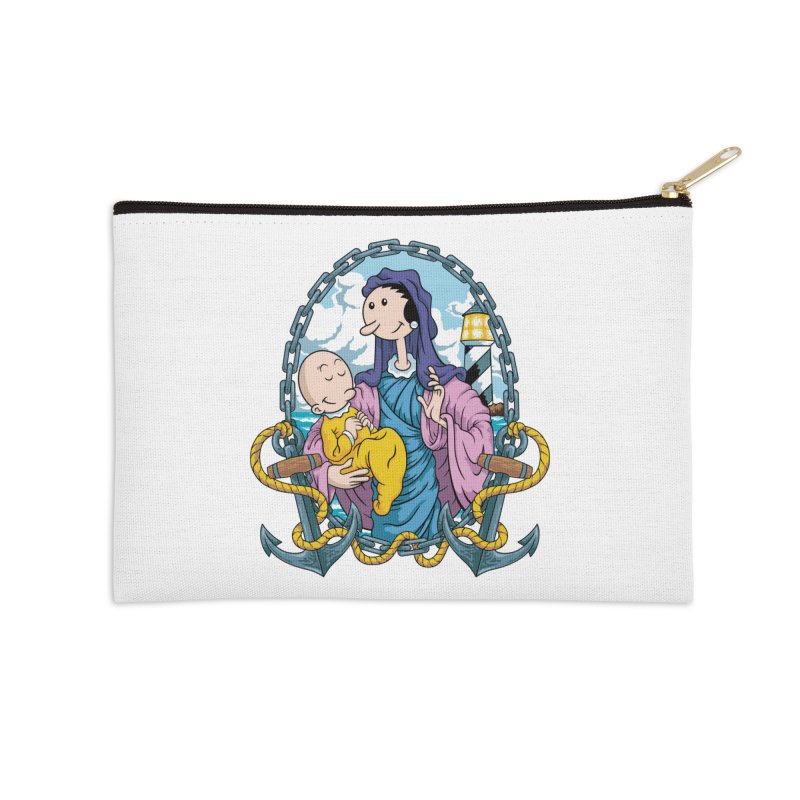 Virgin Olive Oyl Accessories Zip Pouch by bennygraphix's Artist Shop