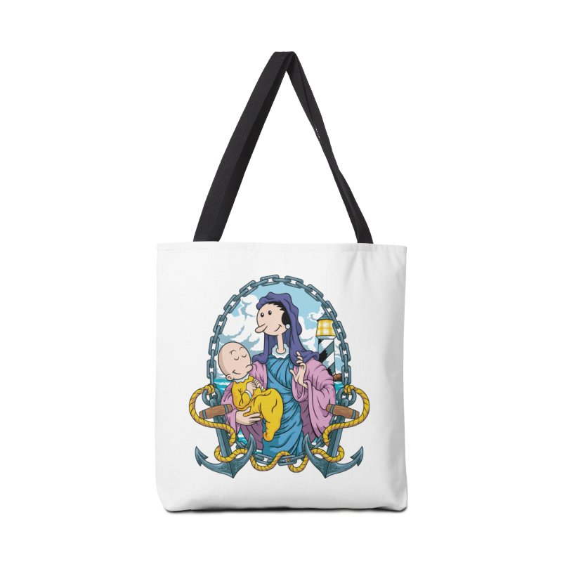 Virgin Olive Oyl Accessories Tote Bag Bag by bennygraphix's Artist Shop