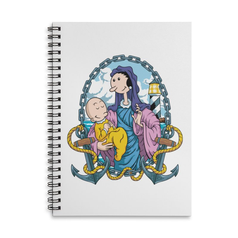 Virgin Olive Oyl Accessories Lined Spiral Notebook by bennygraphix's Artist Shop