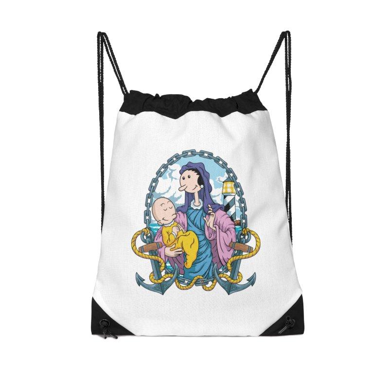 Virgin Olive Oyl Accessories Drawstring Bag Bag by bennygraphix's Artist Shop