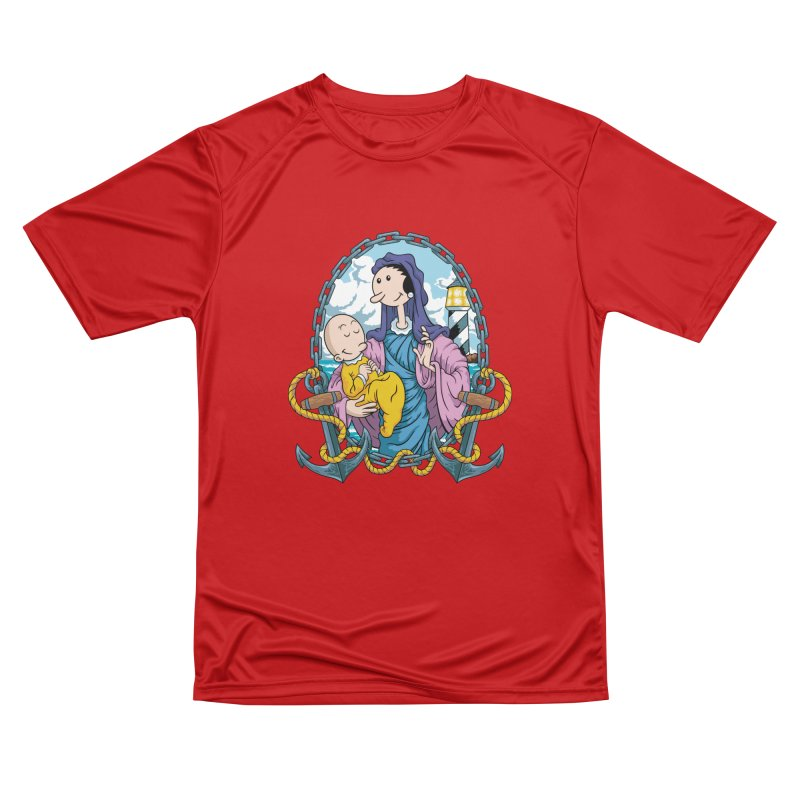 Virgin Olive Oyl Women's Performance Unisex T-Shirt by bennygraphix's Artist Shop