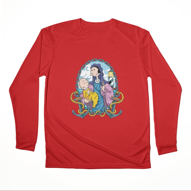 Virgin Olive Oyl Women's Performance Unisex Longsleeve T-Shirt by bennygraphix's Artist Shop