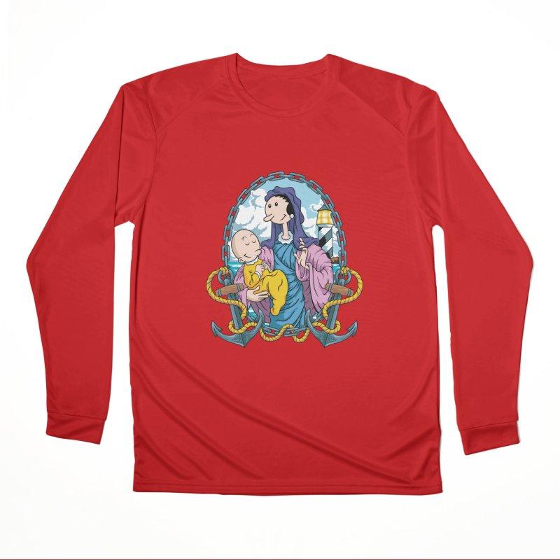 Virgin Olive Oyl Men's Performance Longsleeve T-Shirt by bennygraphix's Artist Shop