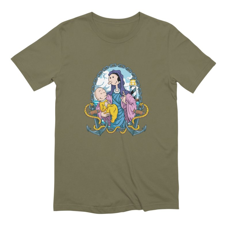 Virgin Olive Oyl Men's Extra Soft T-Shirt by bennygraphix's Artist Shop