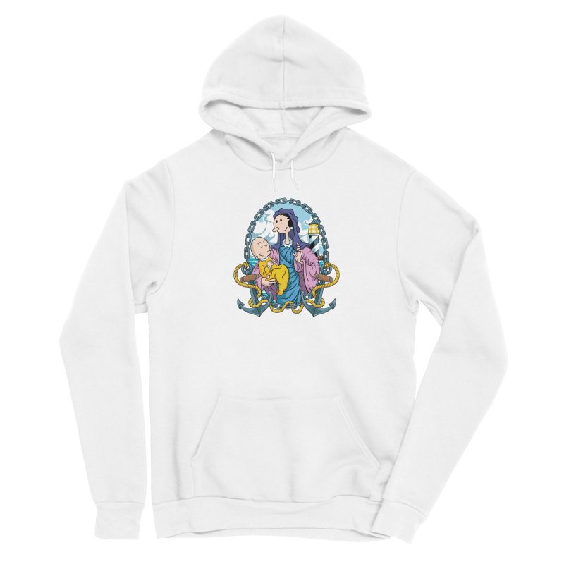 Virgin Olive Oyl Men's Sponge Fleece Pullover Hoody by bennygraphix's Artist Shop