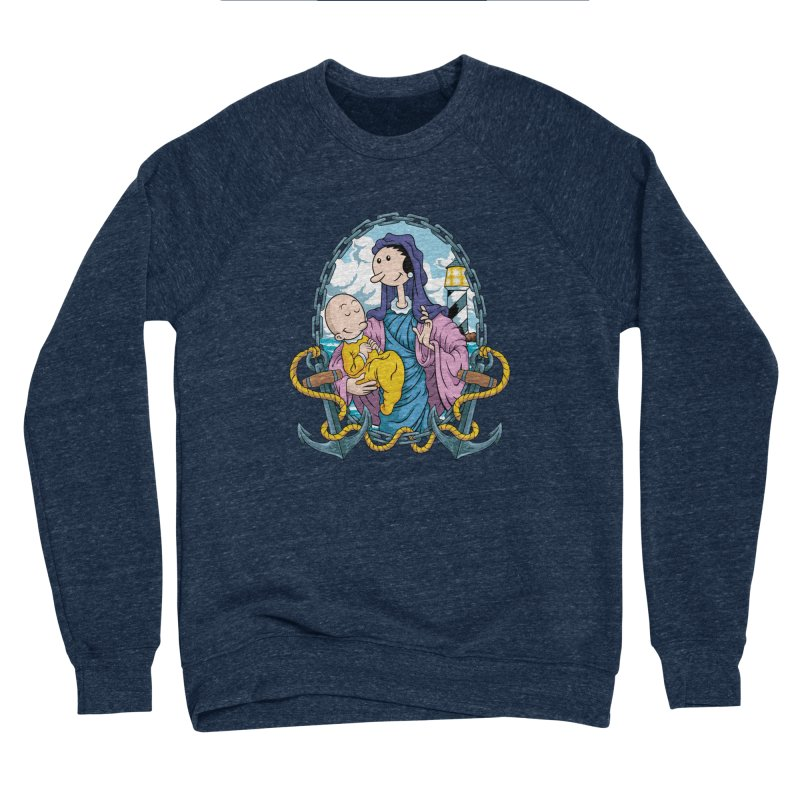 Virgin Olive Oyl Men's Sponge Fleece Sweatshirt by bennygraphix's Artist Shop