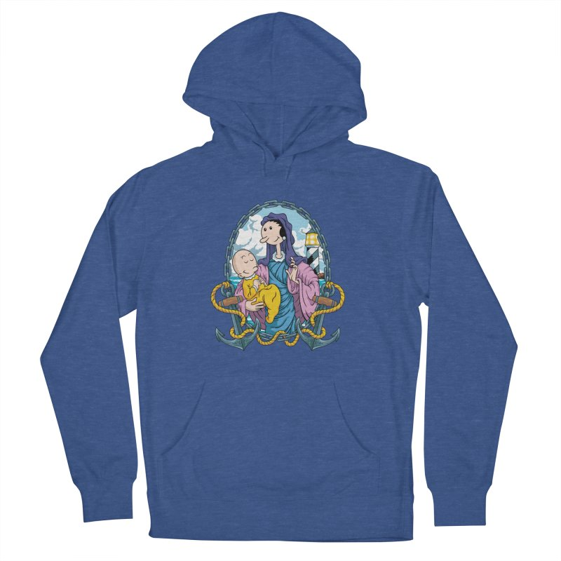 Virgin Olive Oyl Men's French Terry Pullover Hoody by bennygraphix's Artist Shop