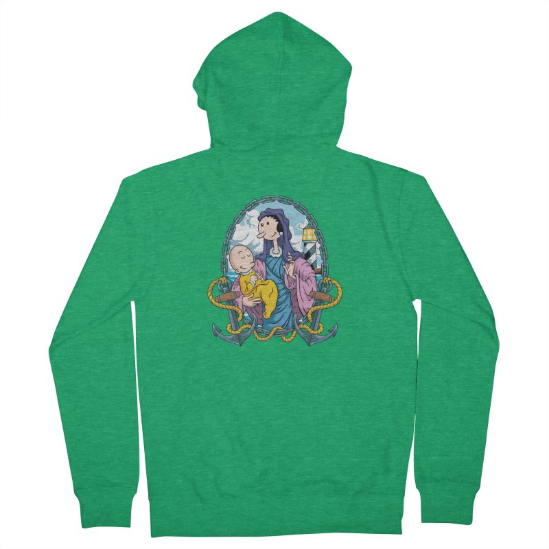 Virgin Olive Oyl Women's French Terry Zip-Up Hoody by bennygraphix's Artist Shop