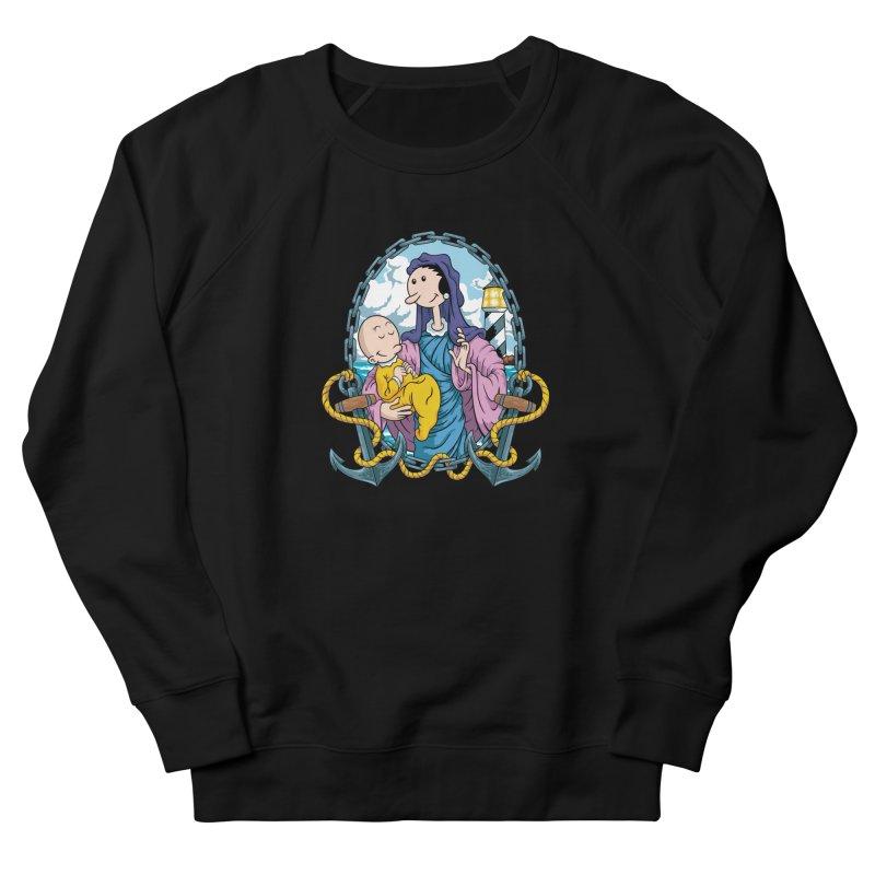 Virgin Olive Oyl Women's French Terry Sweatshirt by bennygraphix's Artist Shop