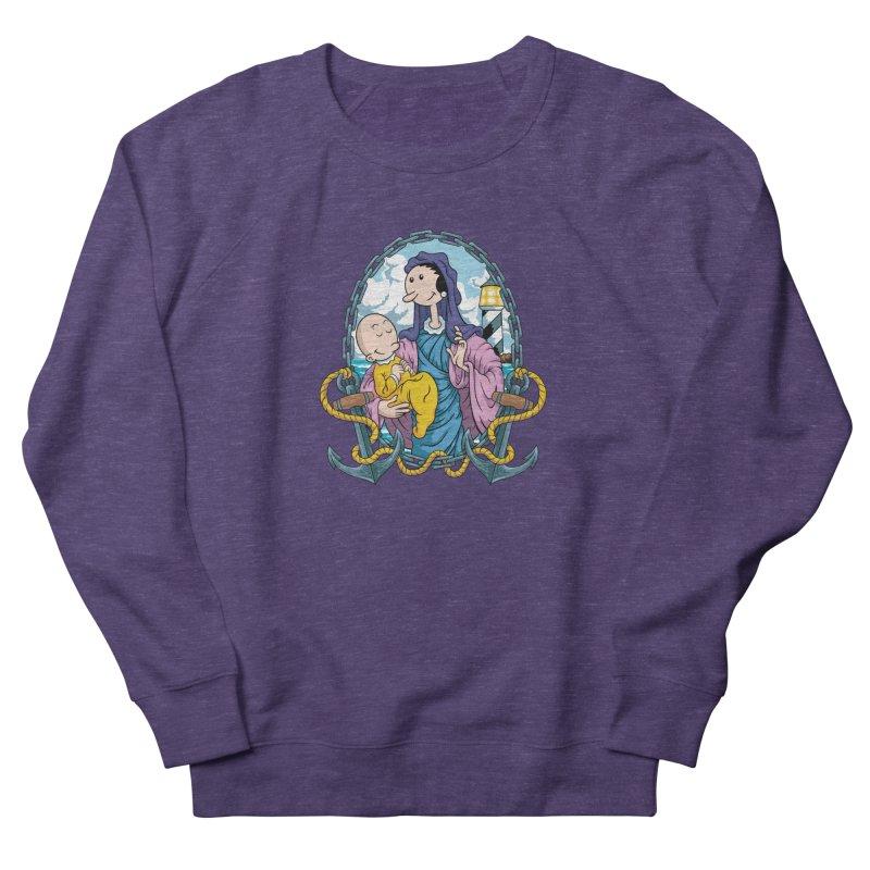 Virgin Olive Oyl Men's French Terry Sweatshirt by bennygraphix's Artist Shop