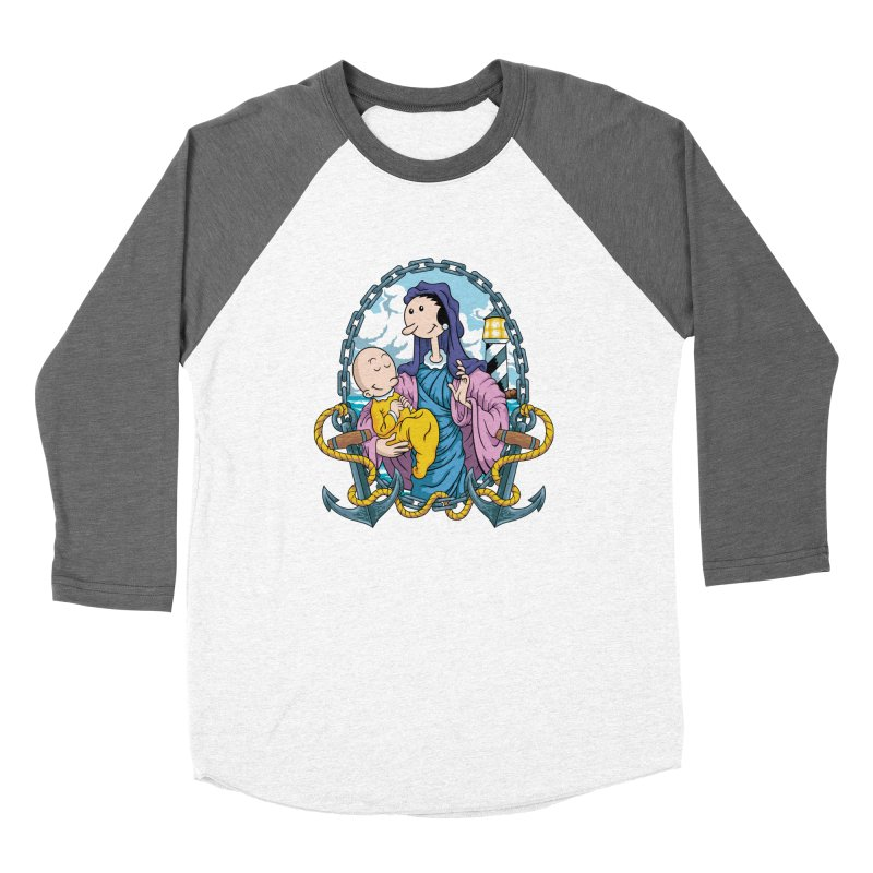 Virgin Olive Oyl Women's Baseball Triblend Longsleeve T-Shirt by bennygraphix's Artist Shop