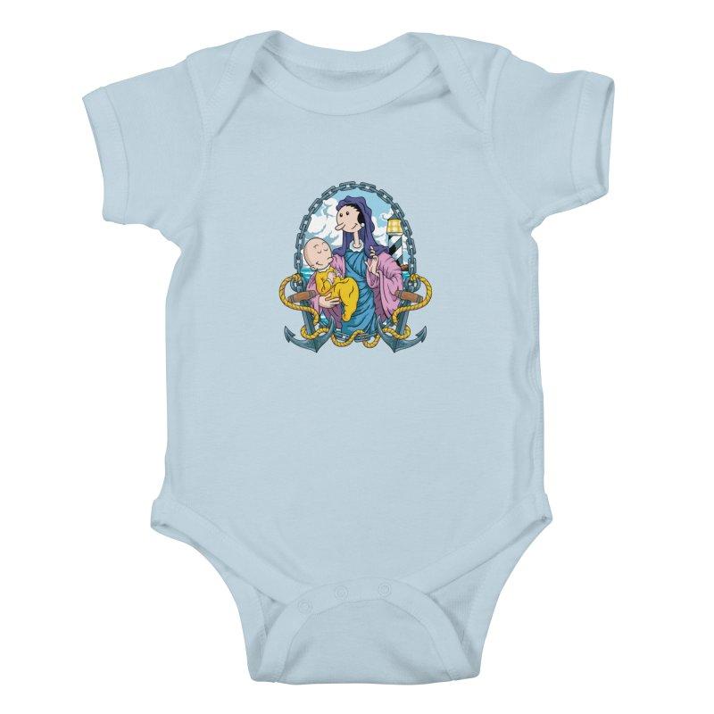 Virgin Olive Oyl Kids Baby Bodysuit by bennygraphix's Artist Shop