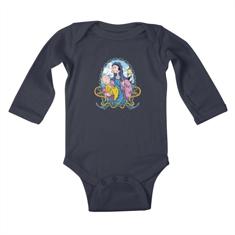 Virgin Olive Oyl Kids Baby Longsleeve Bodysuit by bennygraphix's Artist Shop
