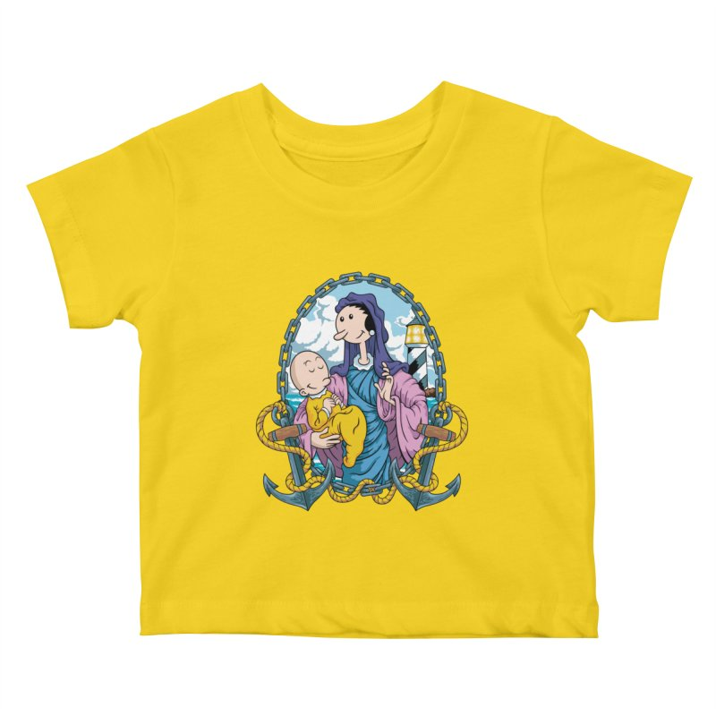 Virgin Olive Oyl Kids Baby T-Shirt by bennygraphix's Artist Shop