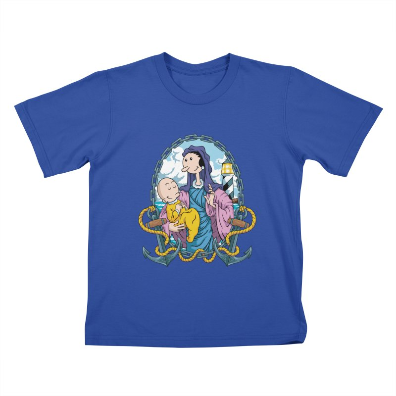 Virgin Olive Oyl Kids T-Shirt by bennygraphix's Artist Shop