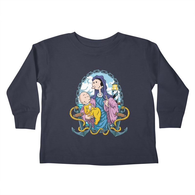 Virgin Olive Oyl Kids Toddler Longsleeve T-Shirt by bennygraphix's Artist Shop