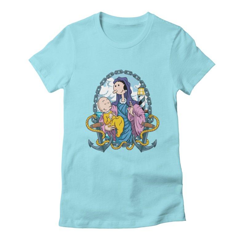 Virgin Olive Oyl Women's Fitted T-Shirt by bennygraphix's Artist Shop