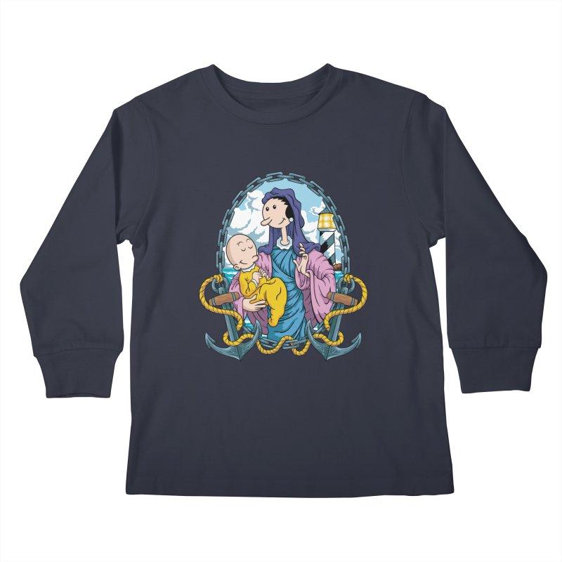 Virgin Olive Oyl Kids Longsleeve T-Shirt by bennygraphix's Artist Shop