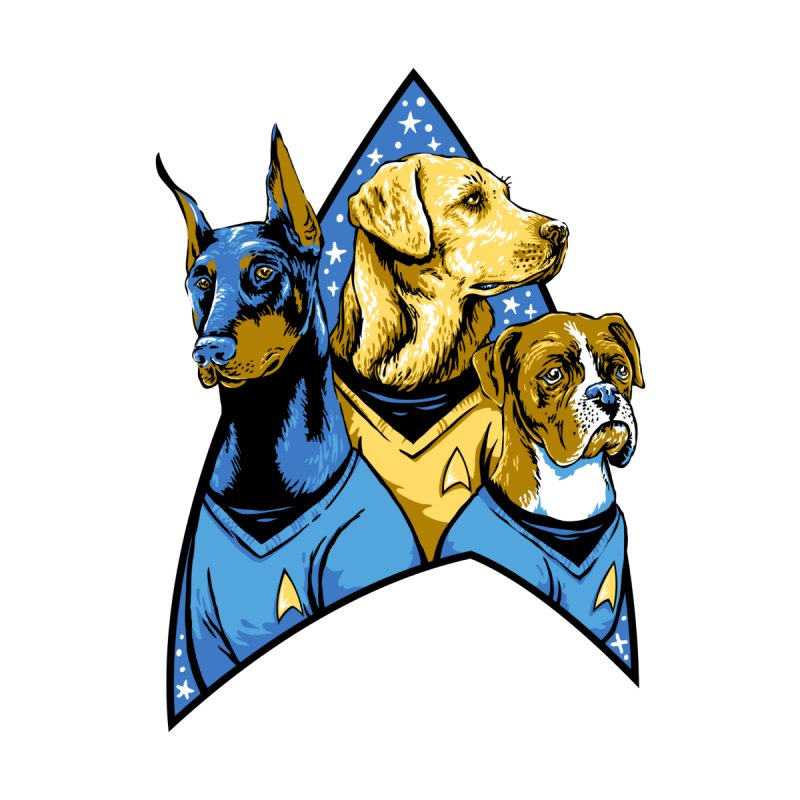 Bark Trek Men's T-Shirt by bennygraphix's Artist Shop