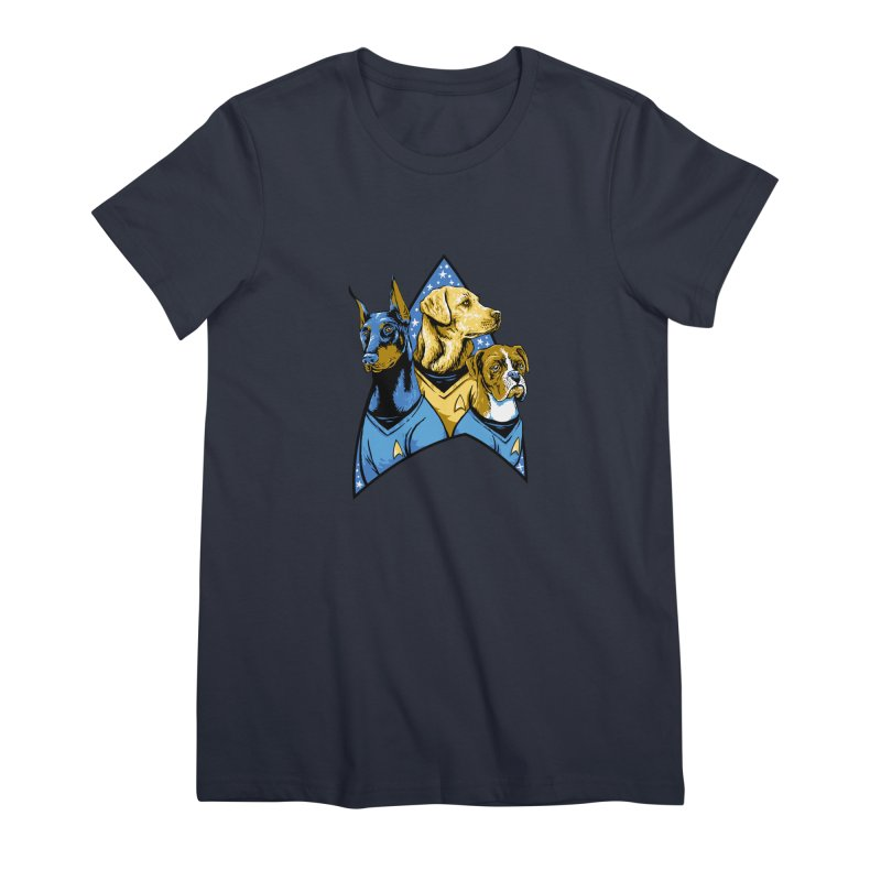 Bark Trek Women's Premium T-Shirt by bennygraphix's Artist Shop