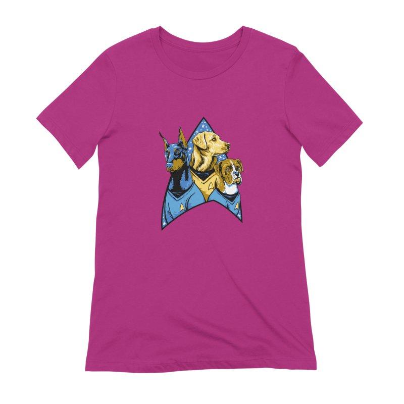 Bark Trek Women's Extra Soft T-Shirt by bennygraphix's Artist Shop