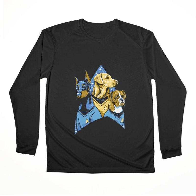 Bark Trek Women's Performance Unisex Longsleeve T-Shirt by bennygraphix's Artist Shop