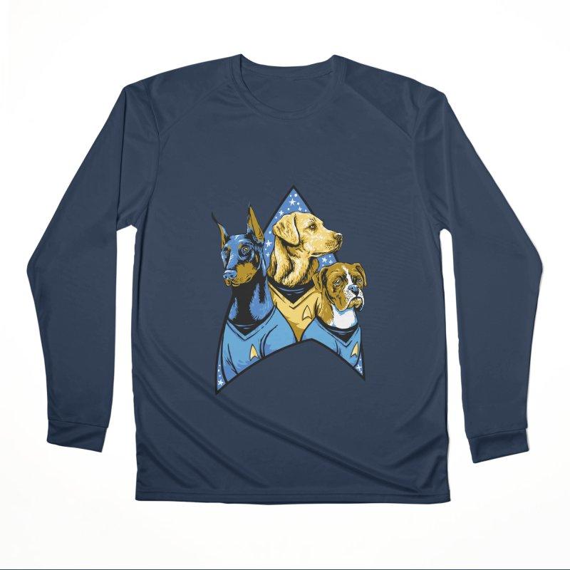 Bark Trek Women's Performance Unisex Longsleeve T-Shirt by bennygraphix's Artist Shop