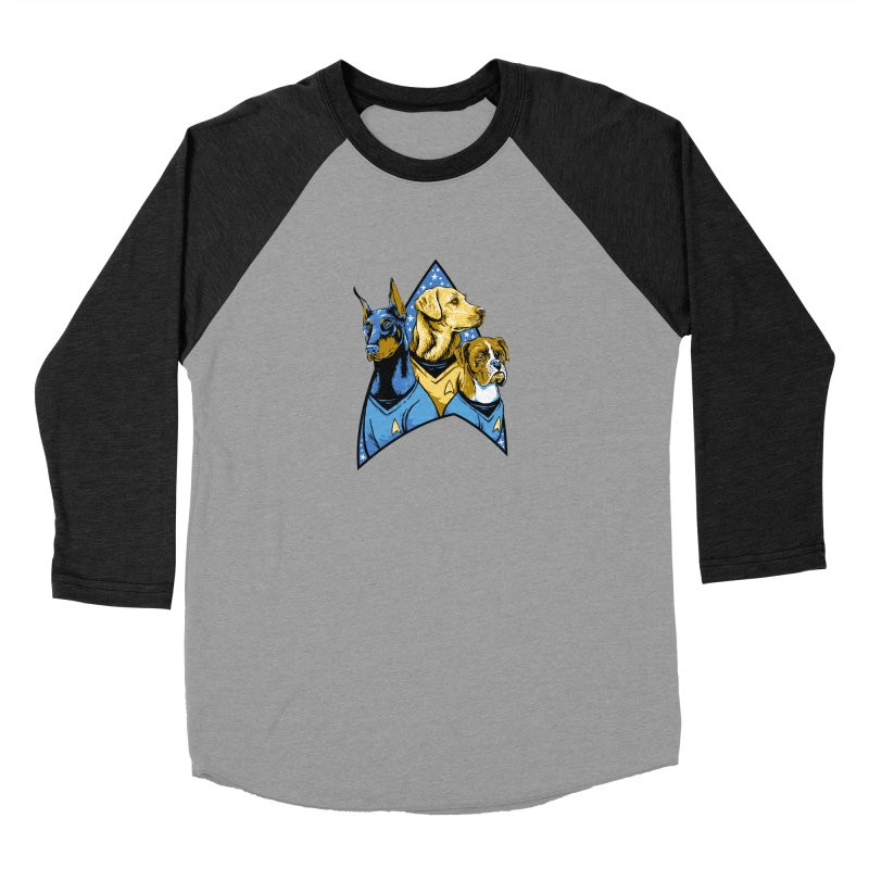 Bark Trek Men's Baseball Triblend Longsleeve T-Shirt by bennygraphix's Artist Shop