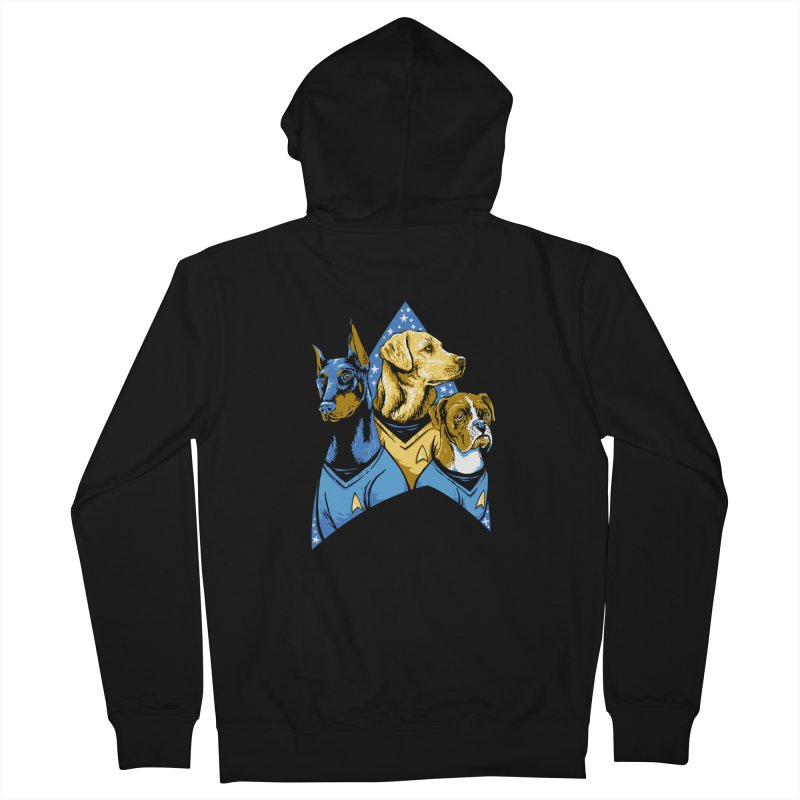 Bark Trek Women's French Terry Zip-Up Hoody by bennygraphix's Artist Shop
